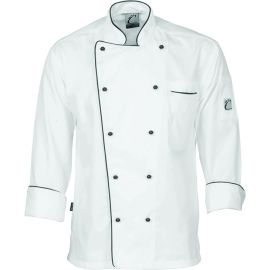 Chef's Jacket White piped