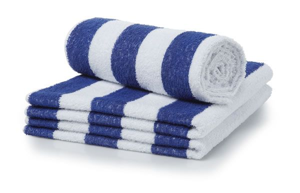 Bath Towel Striped Pool 76x152
